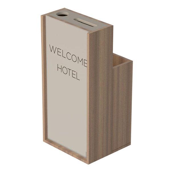 Mueble dispensador moderno protección Covid-19 Wellcome hotel