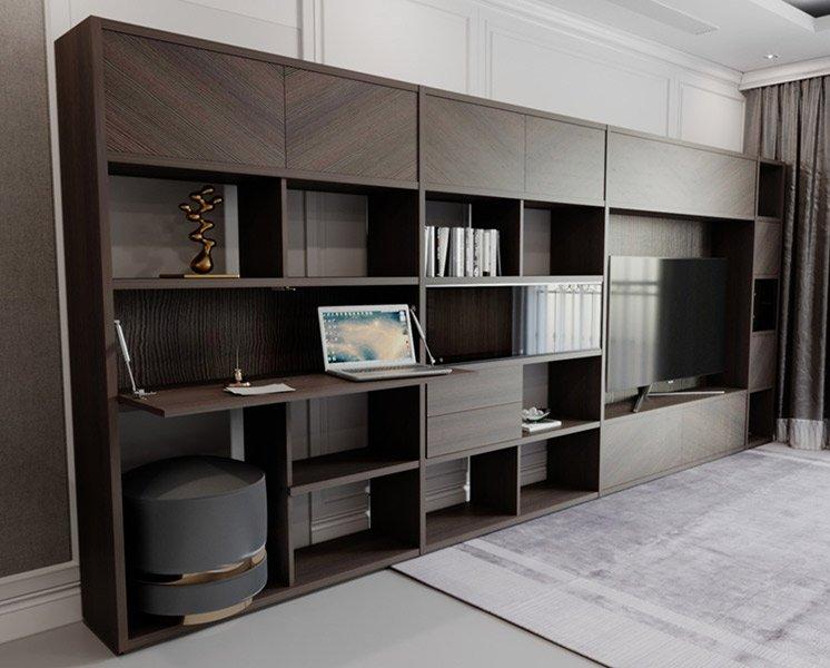 Librería modular con puerta abatible Julir