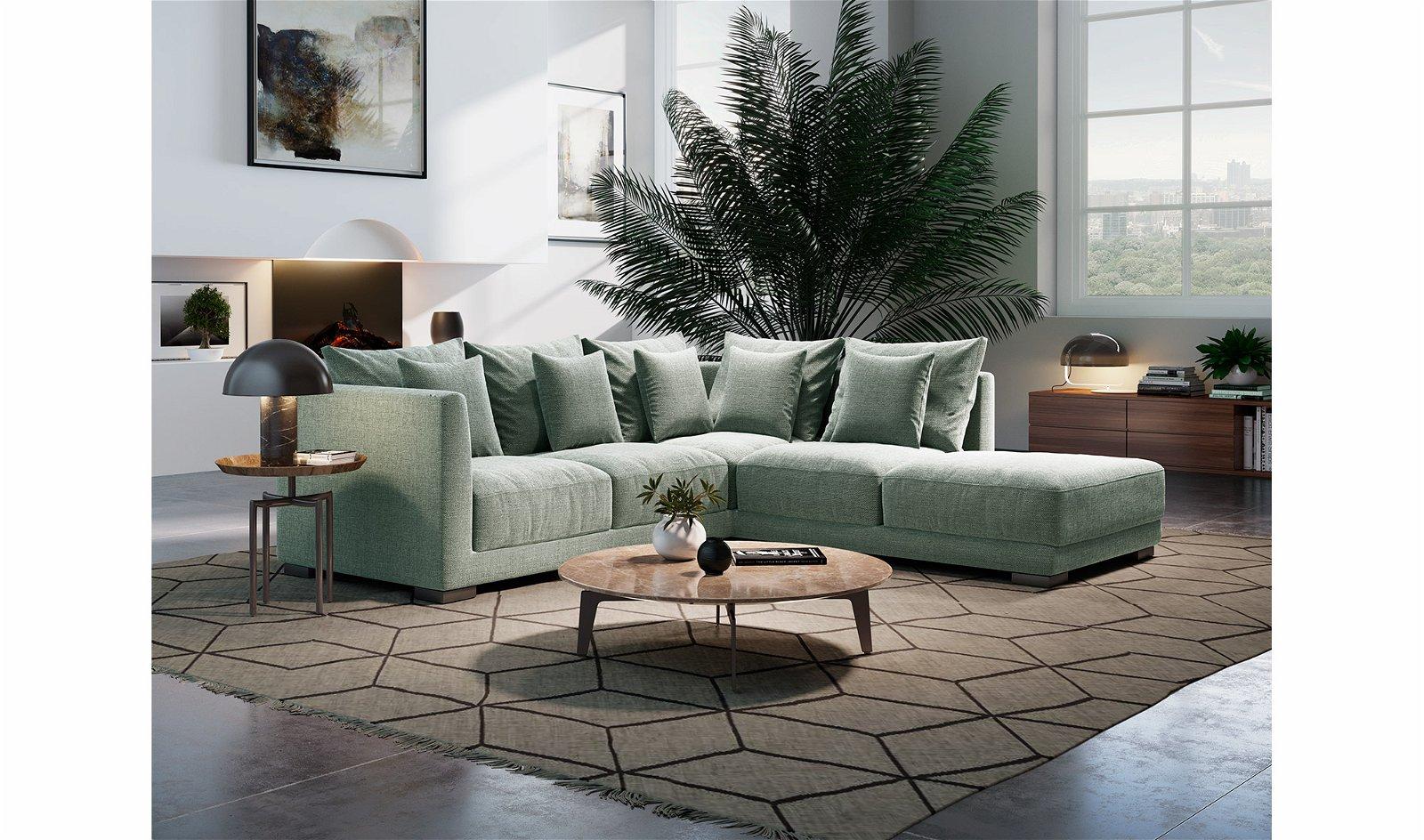 Sofá con chaise longue de diseño Tintoretto