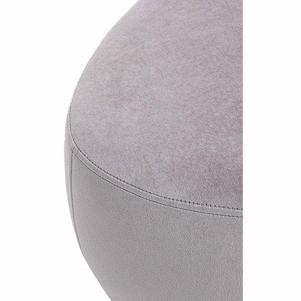 Puff terciopelo gris claro Tones