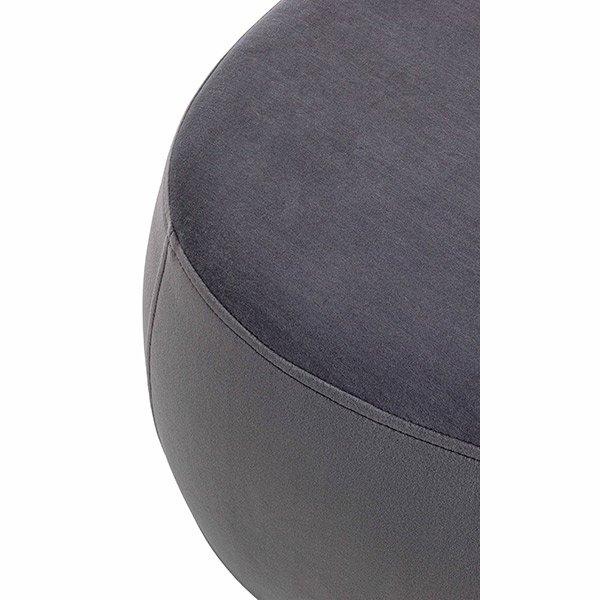 Puff terciopelo gris oscuro Tones