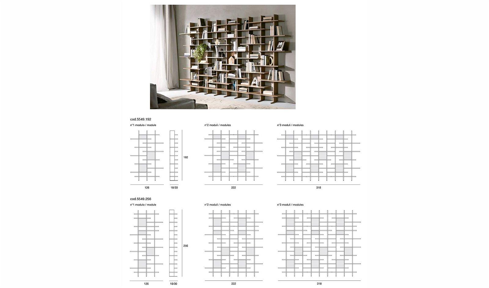 Librería modular de diseño Elisabeth