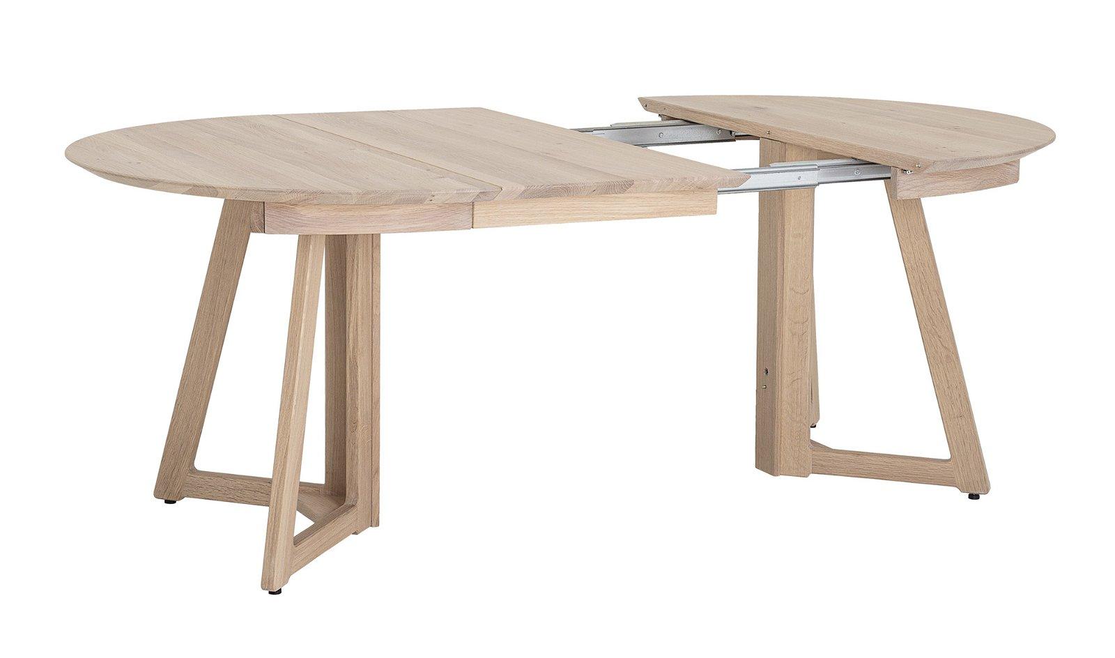 Mesa de comedor redonda extensible roble naturaleza