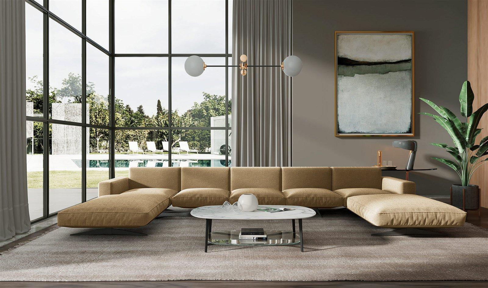 Sofá doble chaise longue moderno Florencia