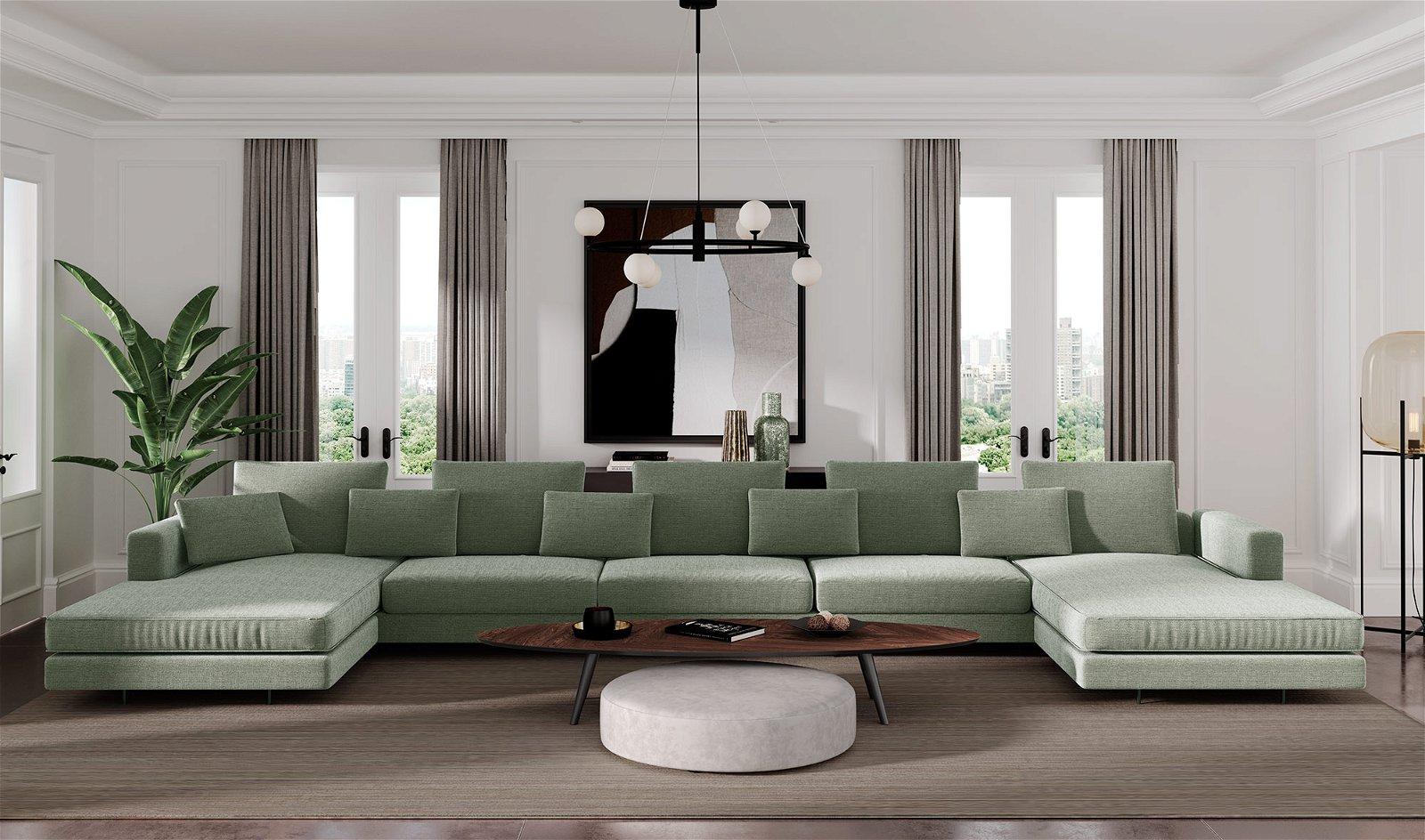 Sofá doble chaise longue de diseño Newport