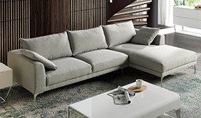 Sofá con chaise longue moderno tapizado y Compiano