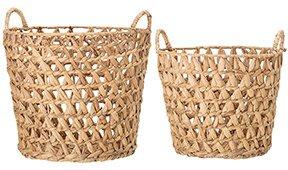 Set 2 cestas jacinto de agua naturaleza