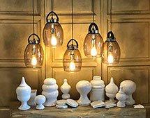 Lámpara de techo cromo Lantern