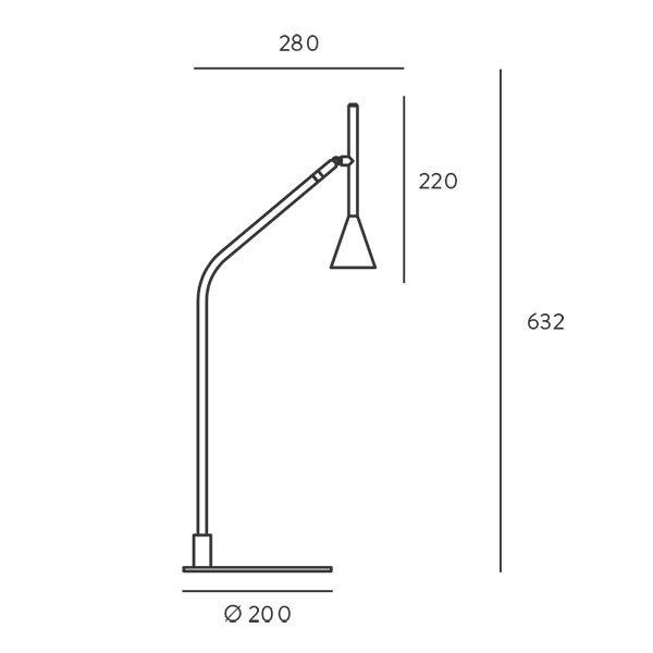 Lámpara de sobremesa moderna Lyb