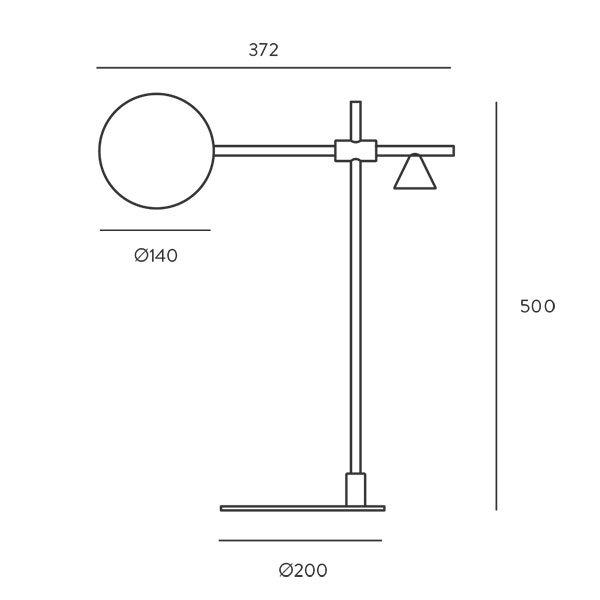 Lámpara de sobremesa Crane