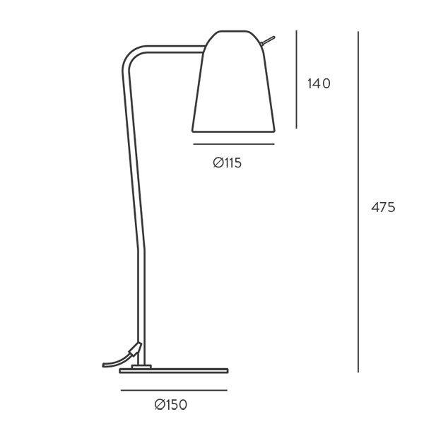 Lámpara de sobremesa Dobi Metal