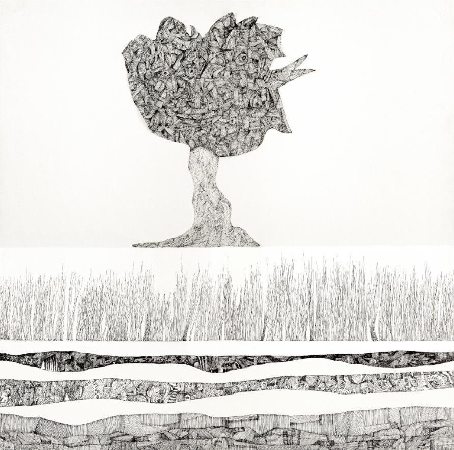 Cuadro canvas ipotesi di paesaggio I