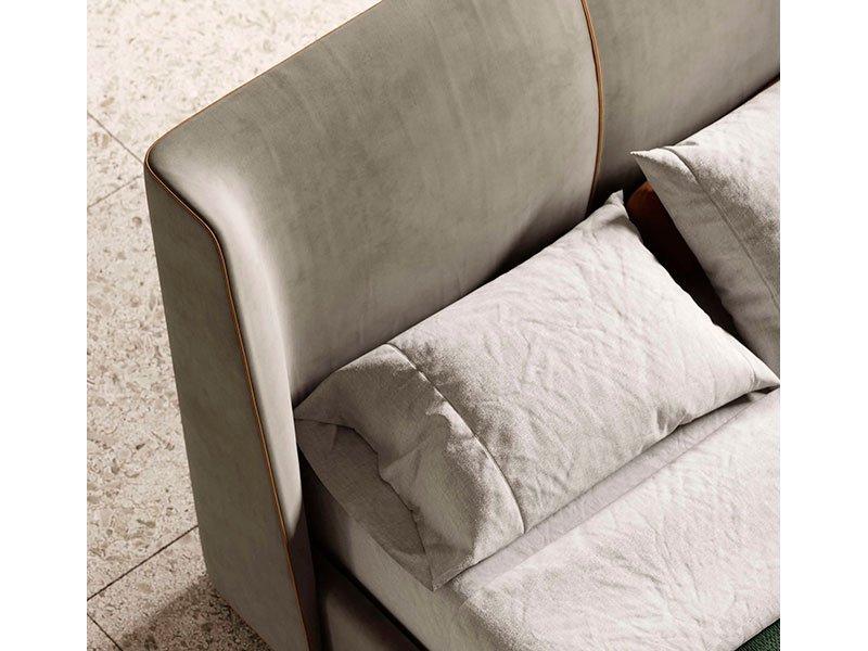 Cama tapizada de diseño Echo