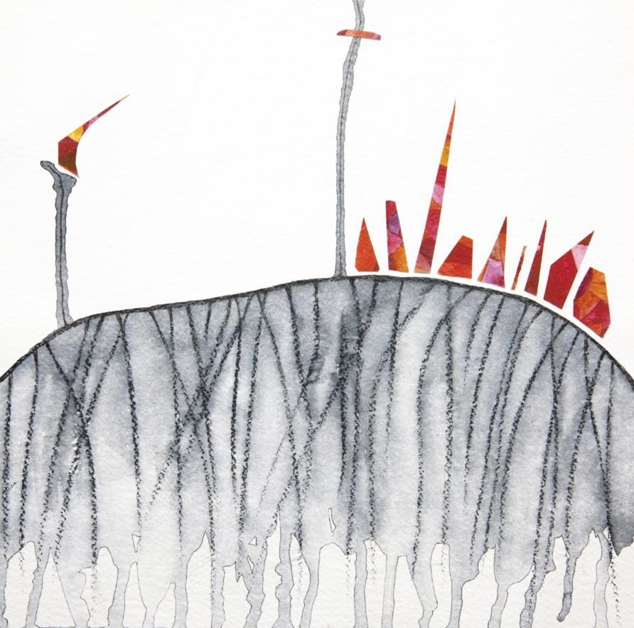 Cuadro canvas lincendio sulla collina