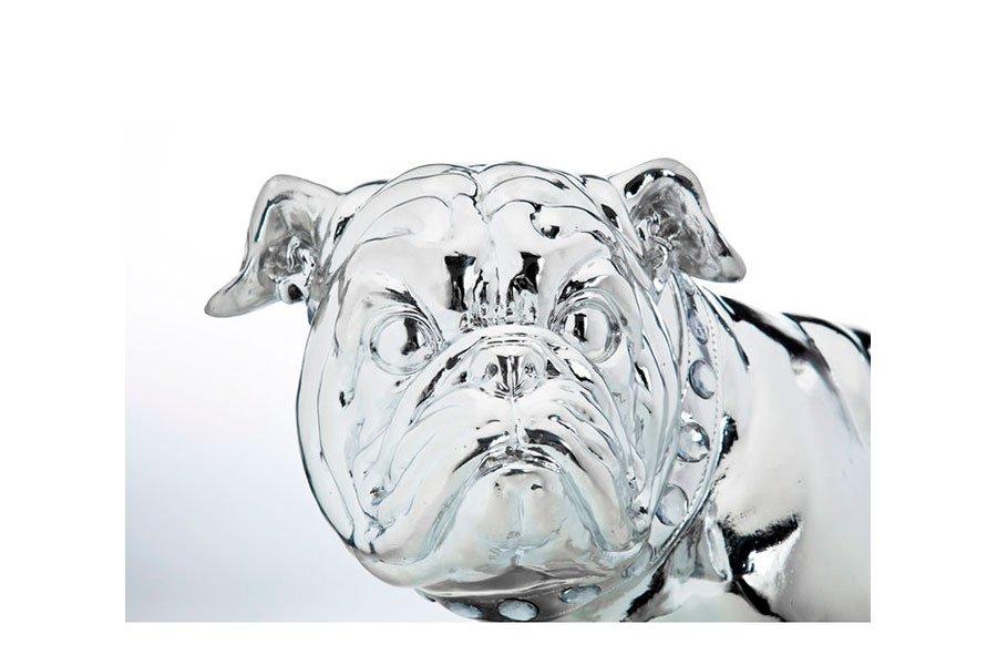 Figura decorativa perro pequeño plata