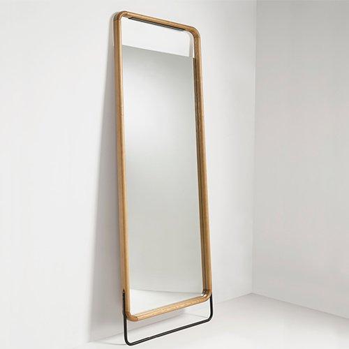 Espejo vestidor roble natural y metal