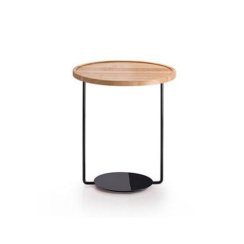 Mesa de rincón de metal y mármol o madera Domo