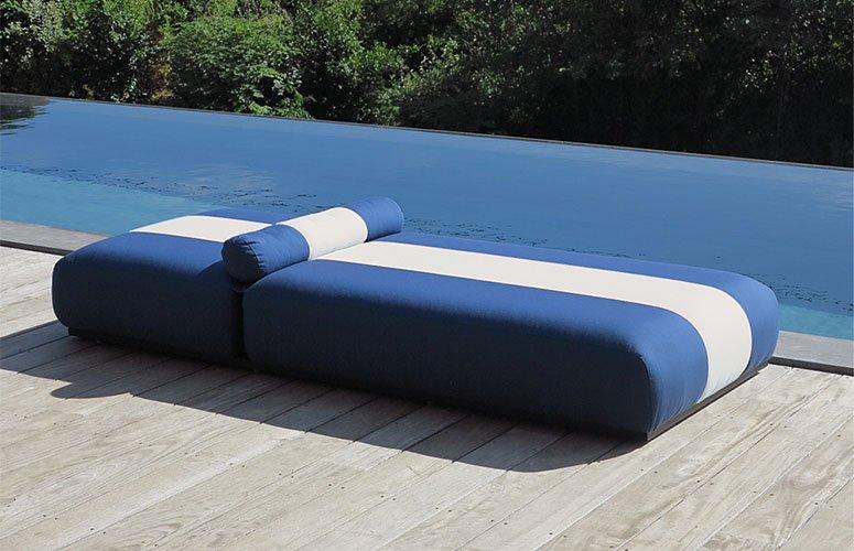 Tumbona sunbed tapizada
