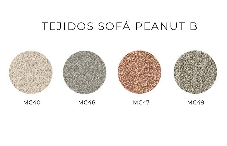 Sofá modular Peanut B a dos caras de Bonaldo