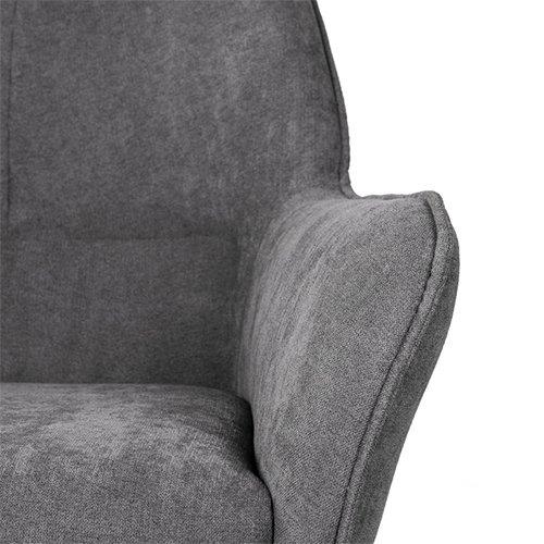 Mecedora tapizada gris oscuro Copenhagen