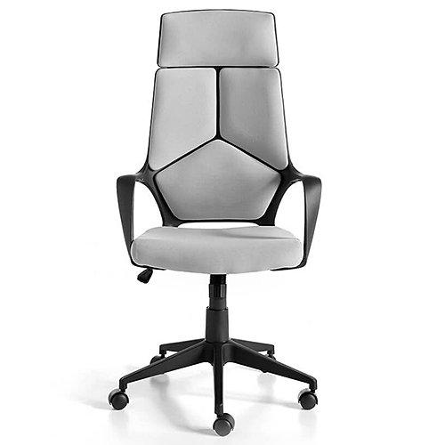 Sillón de despacho gris estructura negra giratorio