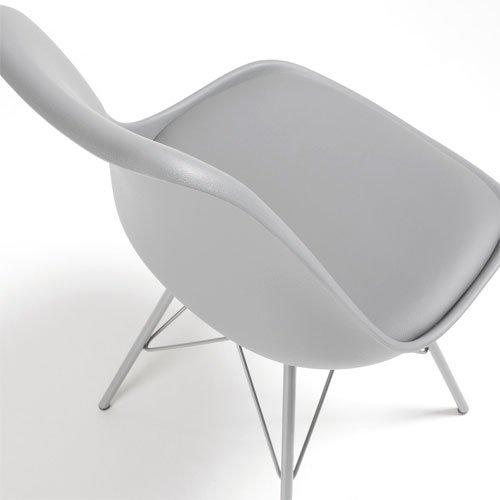 Silla metal moderna Ralf gris