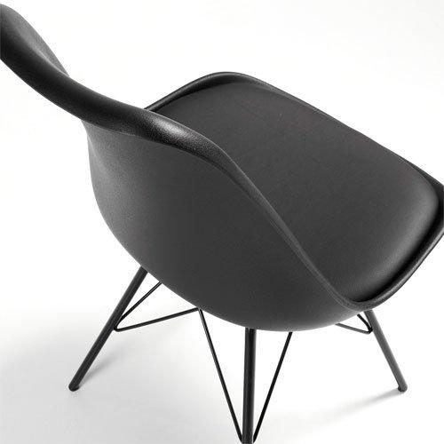 Silla metal negra moderna Ralf