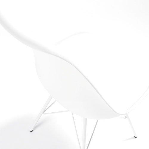 Silla metal blanca moderna Ralf
