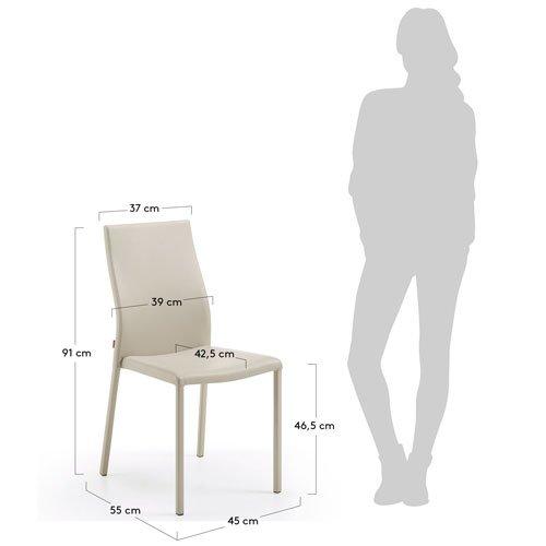 silla tapizada moderna perla Ura