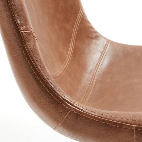 Silla marrón óxido vintage Crat