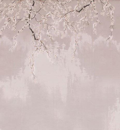 Papel pintado textil lienzo autoadhesivo Floration