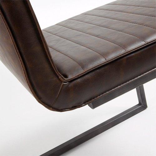 Silla vintage marron oscuro Pety