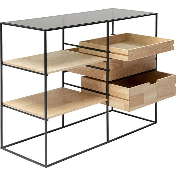 Cómoda Industrial metal y madera Copenhagen 100