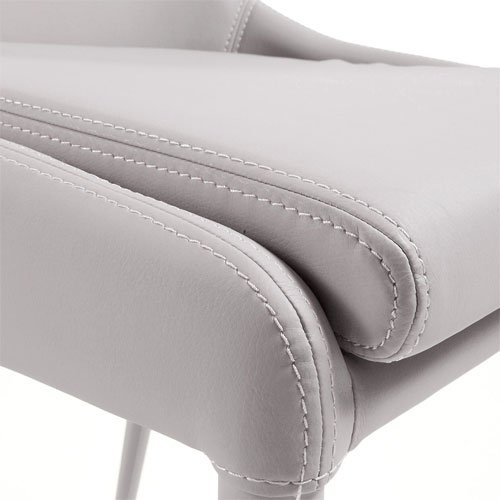 Silla piel sintética beige moderna Tand