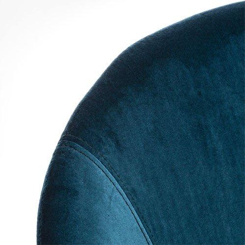 Mecedora nordica gris azul pavo real Annika