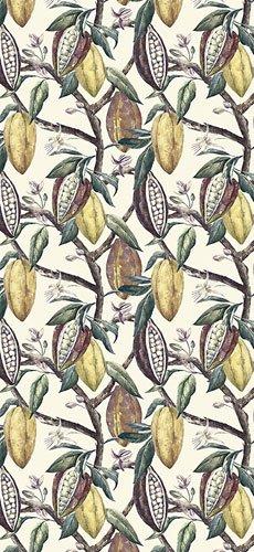 Papel pintado textil lienzo autoadhesivo Cacao