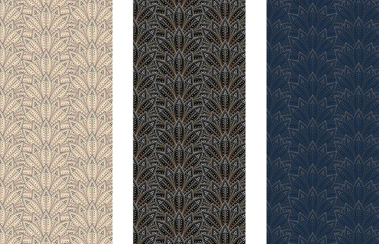 Papel pintado textil lienzo autoadhesivo Ornata