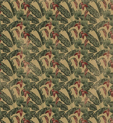 Papel pintado textil lienzo autoadhesivo Tropicana