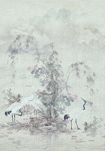 Papel pintado textil lienzo autoadhesivo Deidas