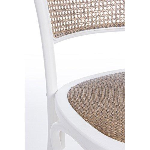 Silla vintage Carrel blanca