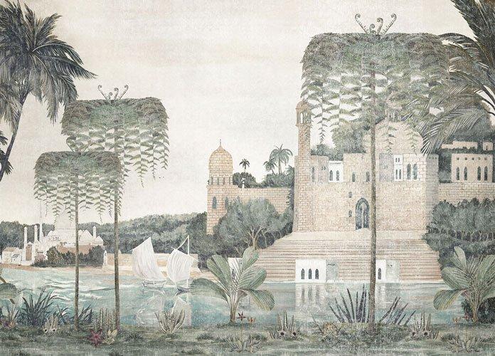 Papel vinílico linen Temple