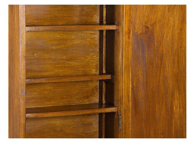 Zapatero con espejo en la puerta 1 cajón clásico