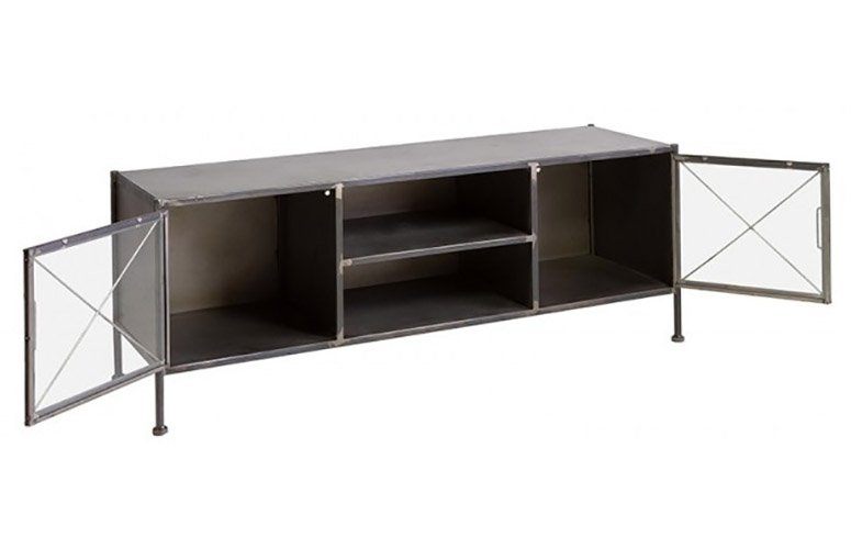 Mesa de TV 2 puertas 2 huecos industrial