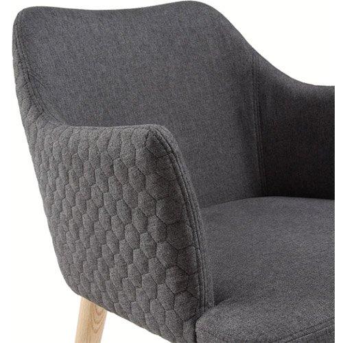 Sillón tapizado gris oscuro nórdico Nadai