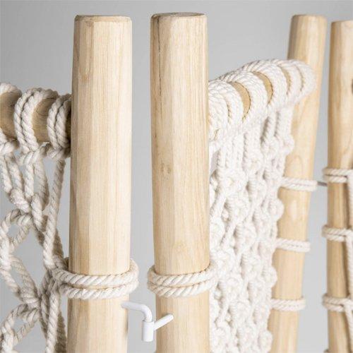 Biombo de teca maciza y cuerda Praxila