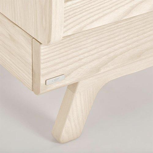 Cuna evolutiva de madera maciza fresno Maralis