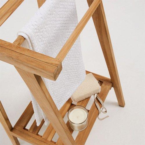 Toallero madera maciza teca Kuveni