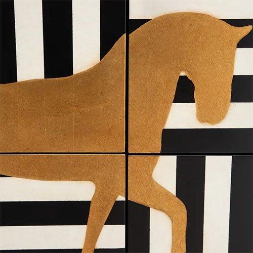 Armario estampado rayas con dibujo caballo