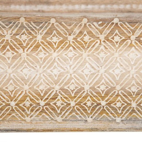 Consola vintage de madera natural