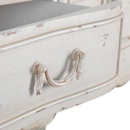 Consola vintage blanco rozado con dos cajones